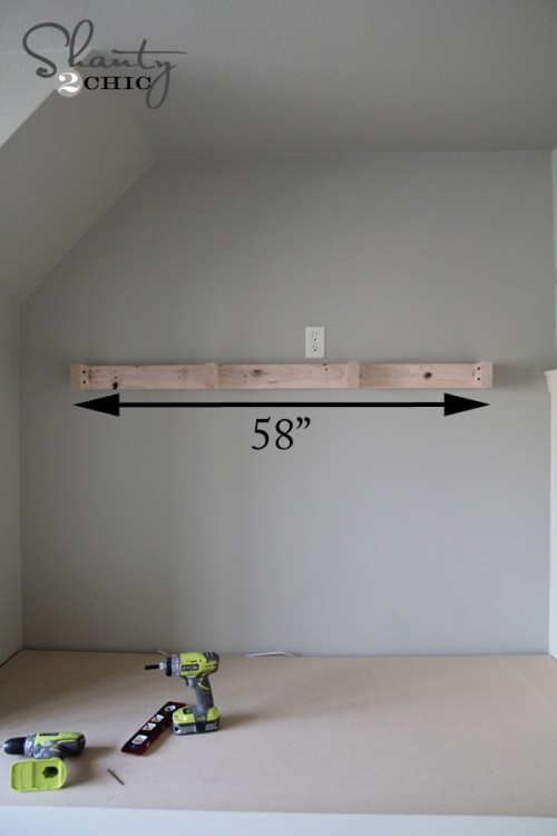 Building a floating shelf
