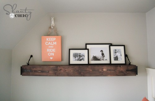 DIY Floating Hanging Shelf