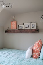 DIY Floating Rustic Shelf or Mantle!