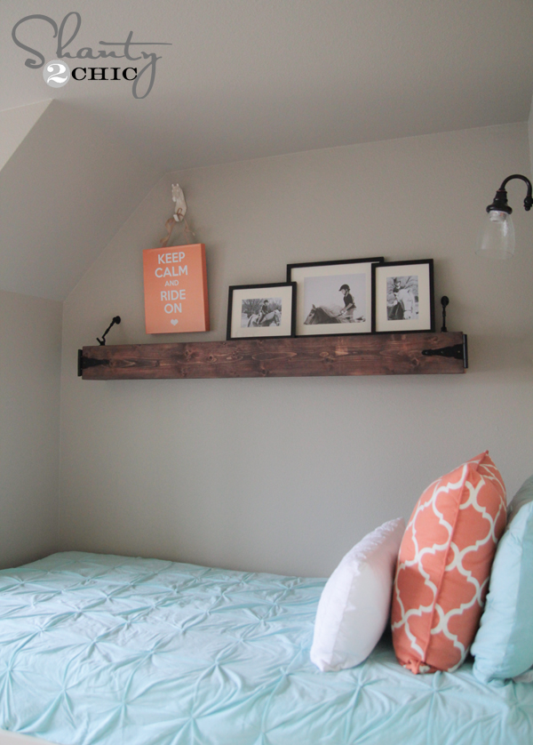 Diy Floating Rustic Shelf Or Mantle Shanty 2 Chic