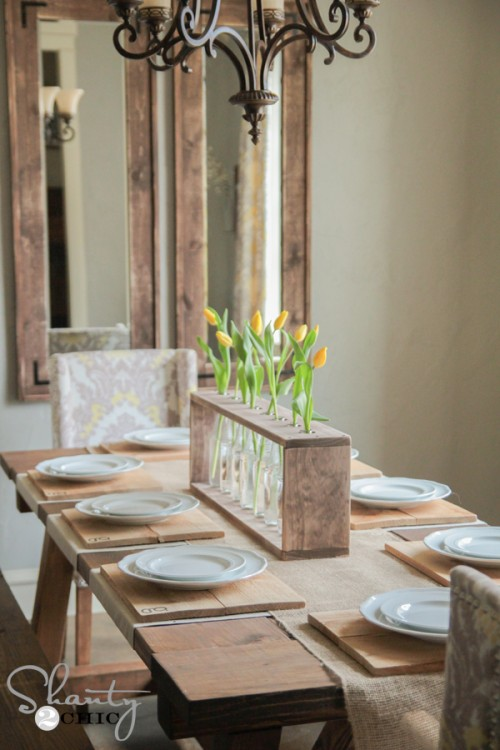 Dining Table Centerpiece DIY