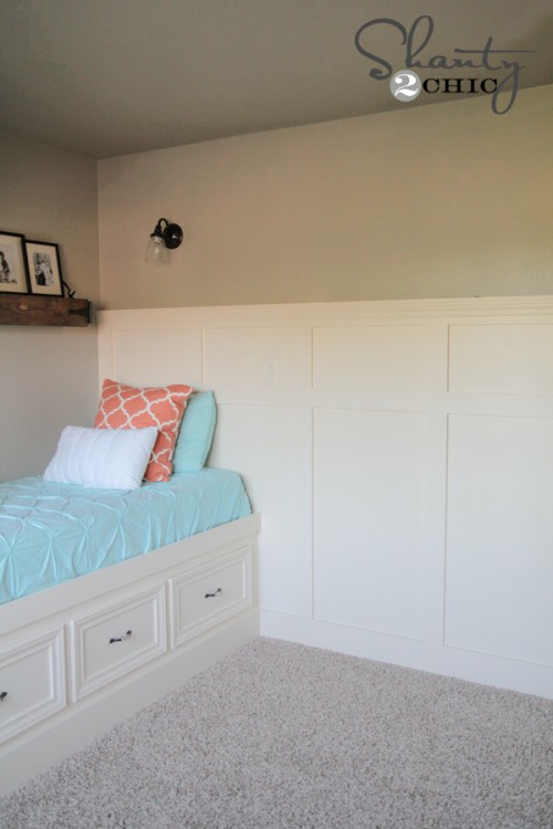 Easy Wainscotting DIY Tutorial by Shanty2Chic