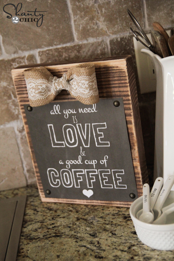 DIY Frame and FREE Coffee Printable! - Shanty 2 Chic