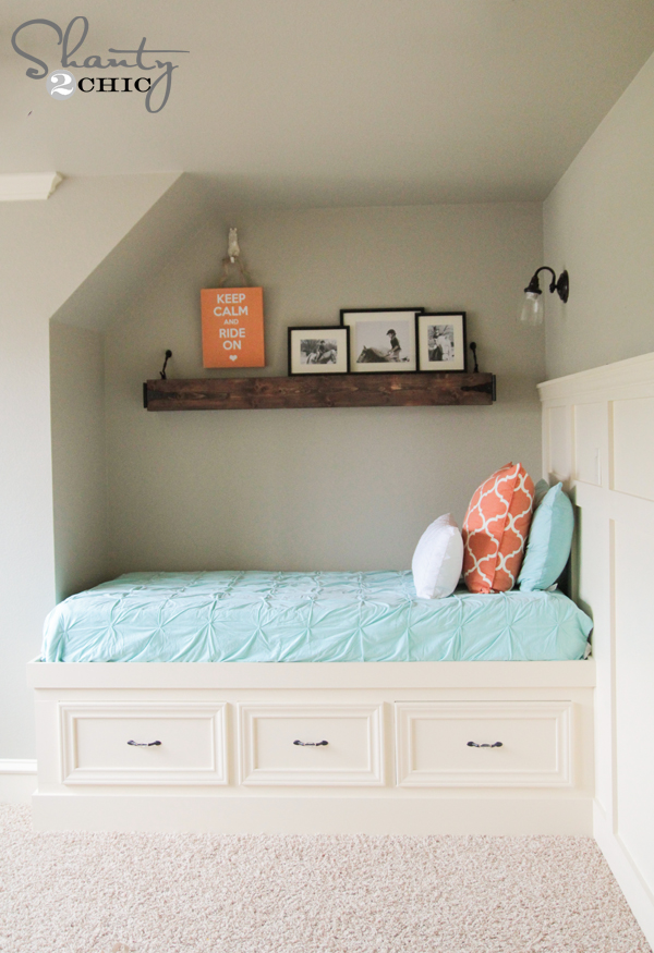 Free Plans DIY Built In Twin Bed