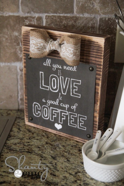 Free Printable Love and Coffee