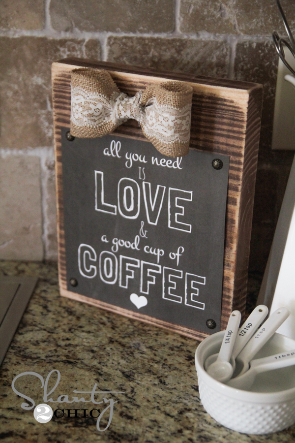 Diy Frame And Free Coffee Printable Shanty 2 Chic