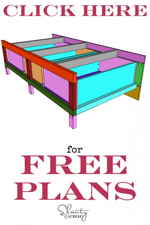 Print Free Built-In Bed Plans