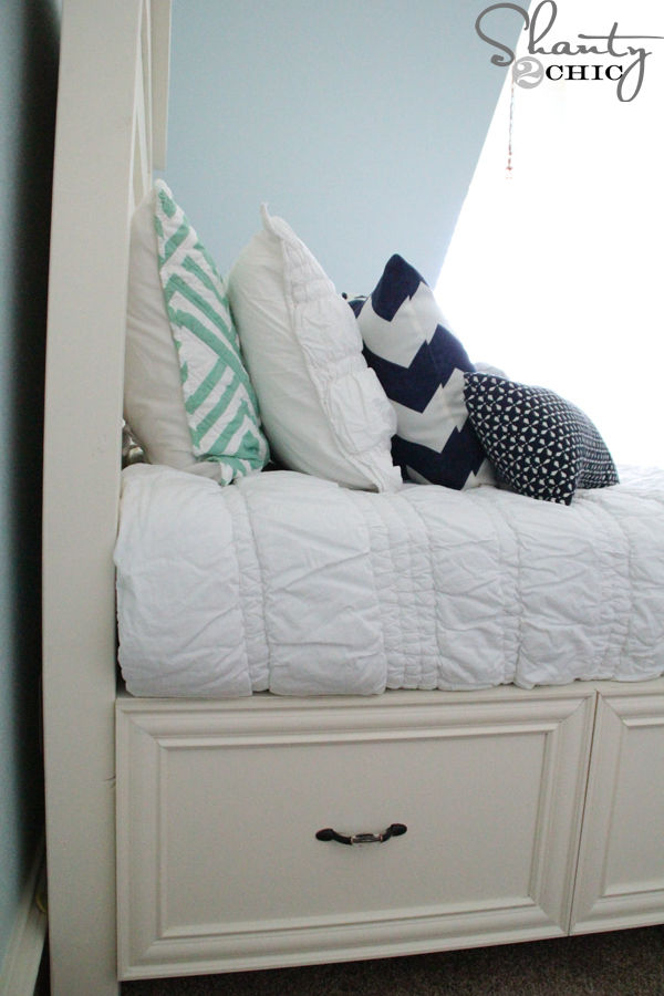 storage bed diy