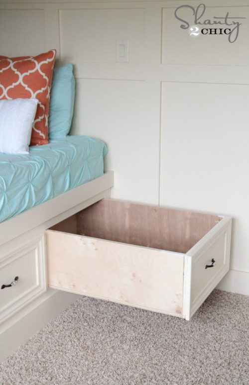 Easel Stand Designs : Diy built in storage bed shanty chic