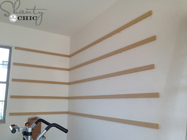 Super easy diy garage shelves shanty 2 chic for Easy diy wall shelf