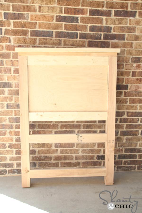 Diy twin storage bed shanty 2 chic for Make a twin headboard