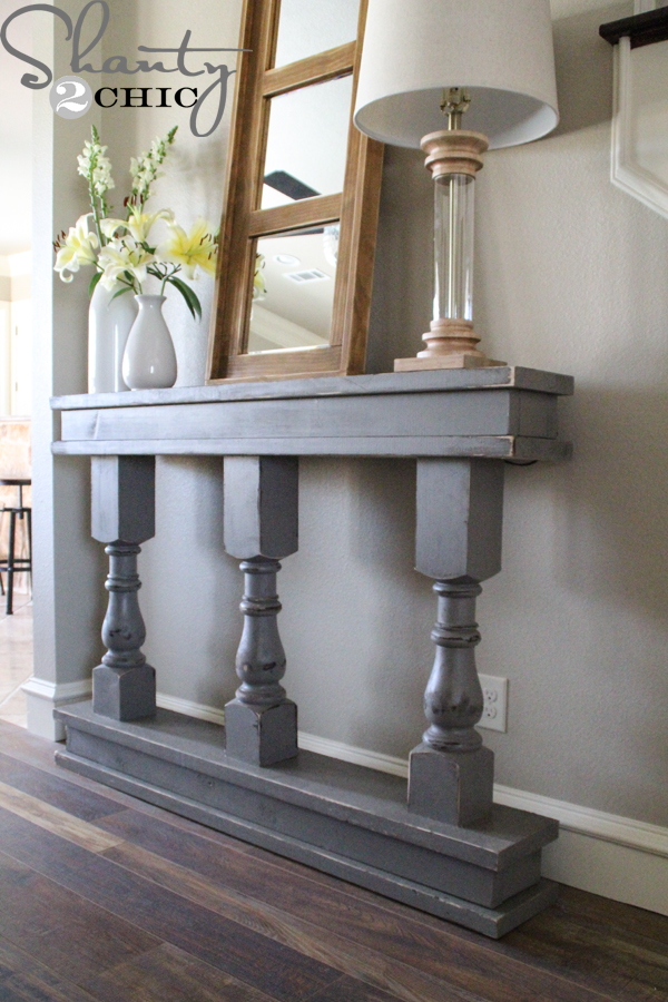 diy console table shanty 2 chic. Black Bedroom Furniture Sets. Home Design Ideas