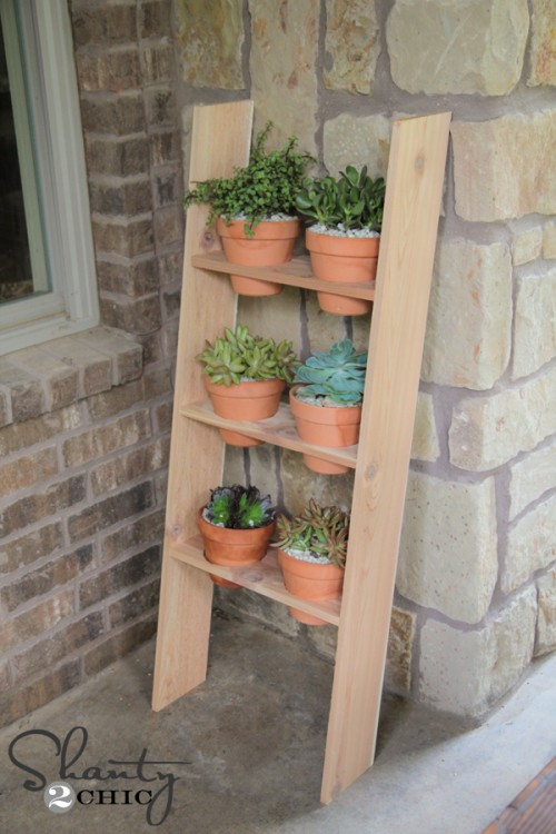 DIY Ladder Planter