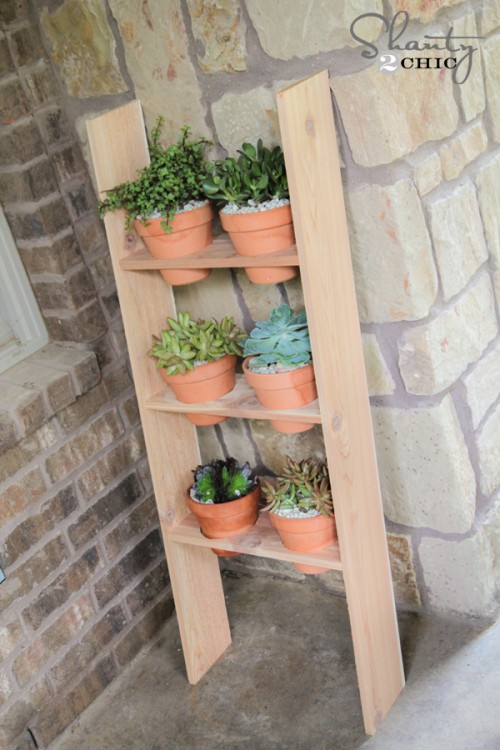Ladder Planter DIY