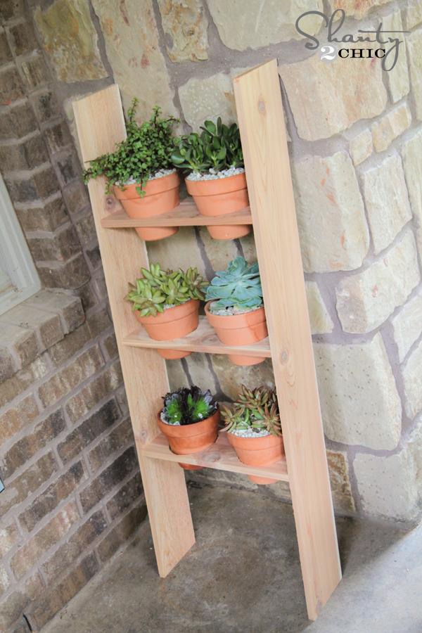 10 ladder planter shanty 2 chic - Ladder plant stand plans ...