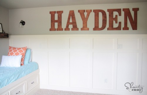 Large Wood Wall Letters