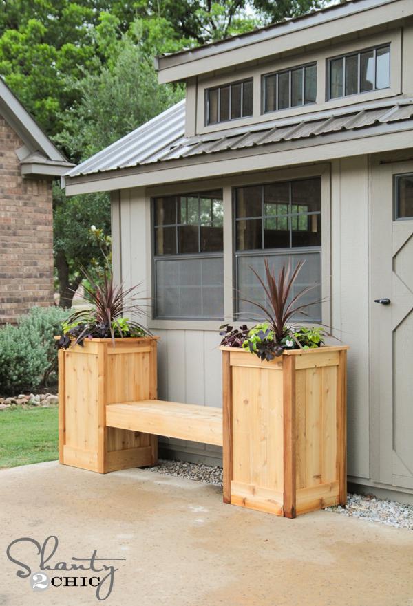 Diy Planter Box Bench Shanty 2 Chic