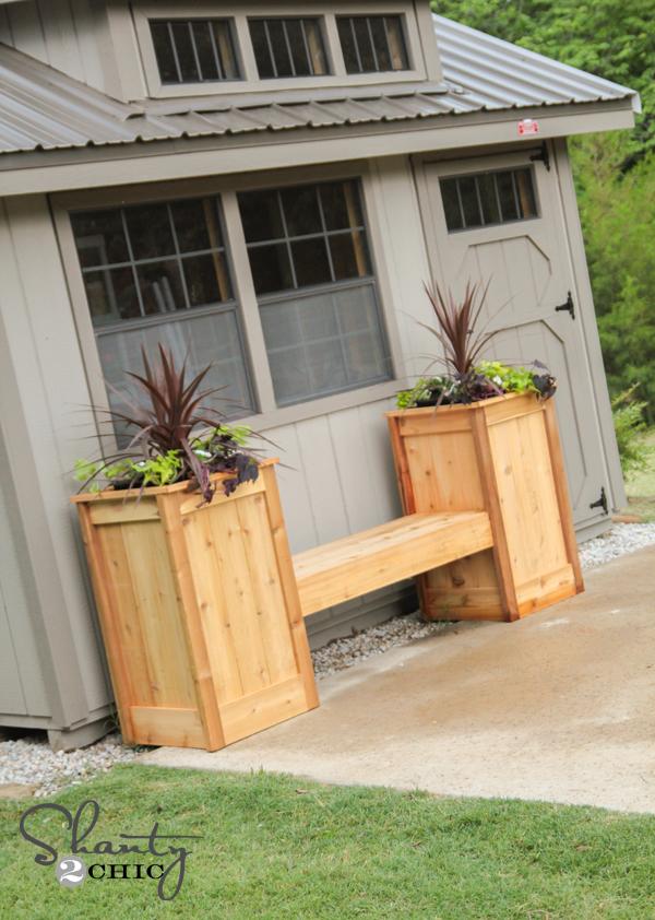 DIY Planter Box Bench - Shanty 2 Chic