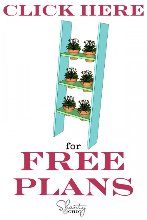 Print Free Plans Ladder Planter