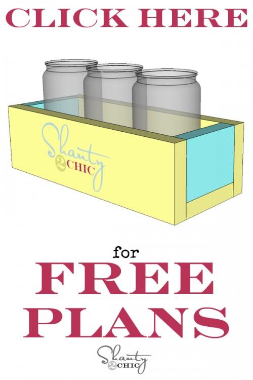 Print Free Plans Mason Jar Planter Box