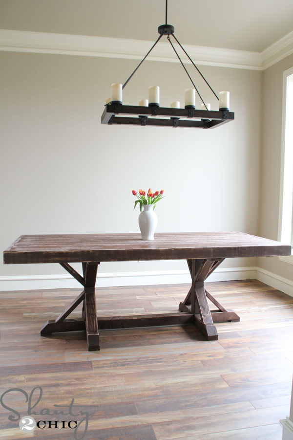 restoration hardware dining table Restoration Hardware Inspired Dining Table for $110   Shanty 2 Chic restoration hardware dining table