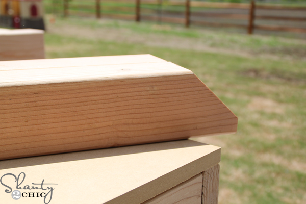 Heres A Pic Of The 45 Degree Miter That You Will Need To Cut For Feet