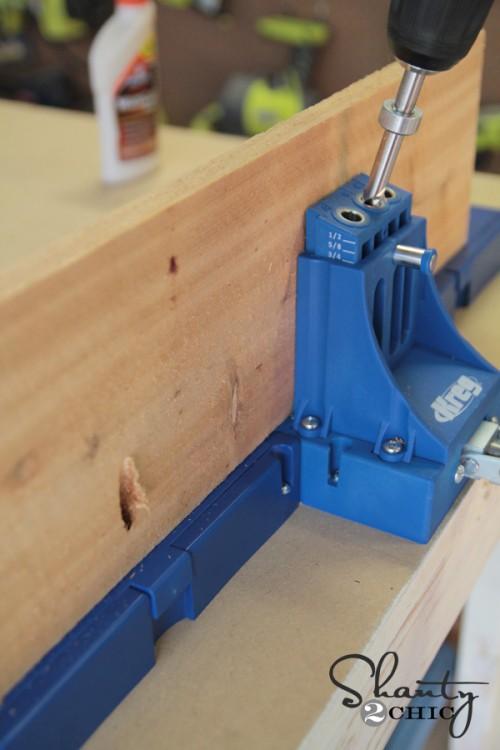 pocket holes for planter box