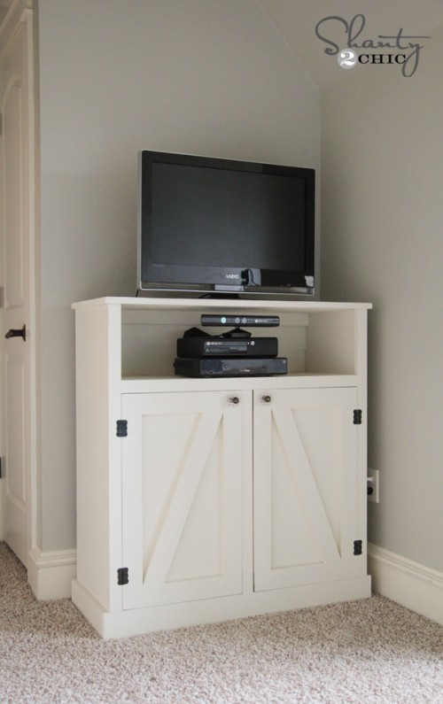 Barn Door Media Console DIY