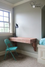 DIY Corbel Desk for $85
