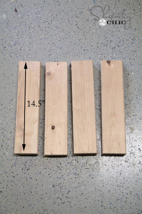 Corbel Desk wood pieces