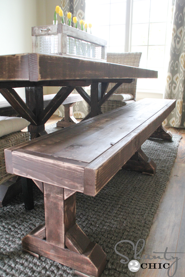 DIY BenchDIY Benches for my Dining Table   Shanty 2 Chic. Dining Table With Benches. Home Design Ideas