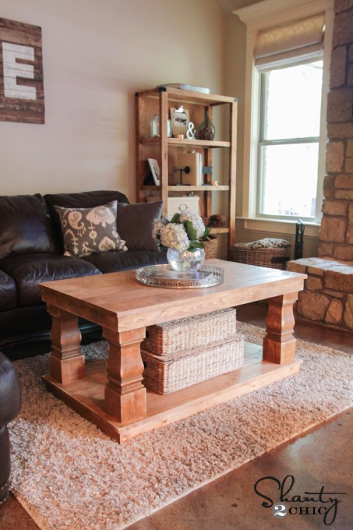 DIY Coffee Table by Shanty 2 Chic