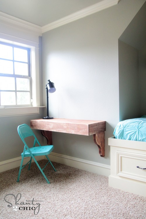 DIY Corbel Desk by Shanty 2 Chic