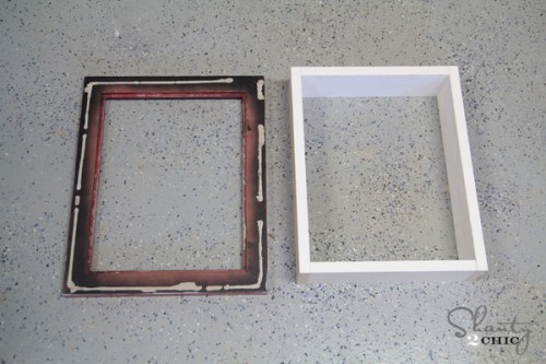 Frame for Shadowbox Shelf