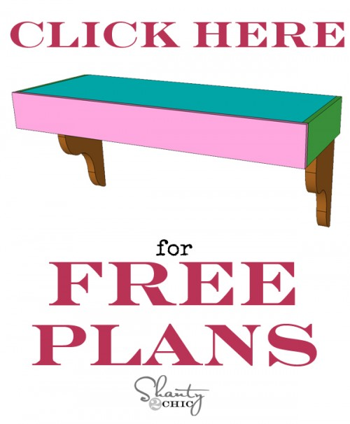 Free Plans for DIY Corbel Desk