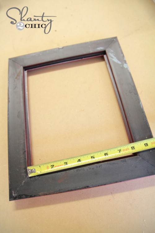 Measure Frame for Shelf