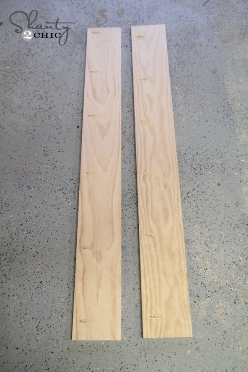 Planks for coffee table top