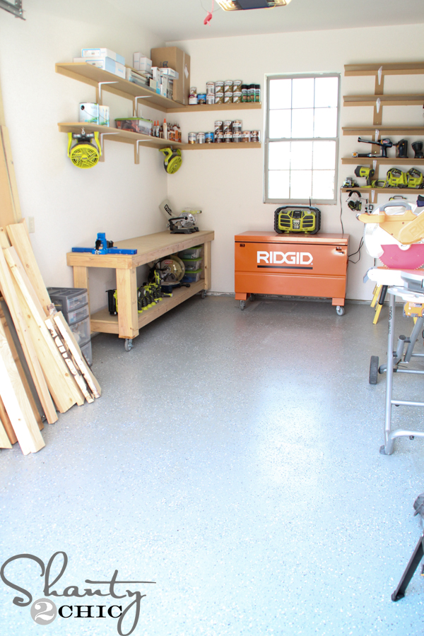 Workbench DIY My Shop Is The Size Of A Standard One Car Garage And You Can See That It Still Gives Me Plenty Space To Work In