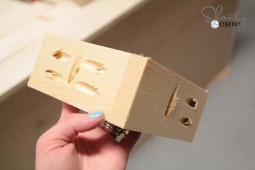 corner piece for DIY coffee table