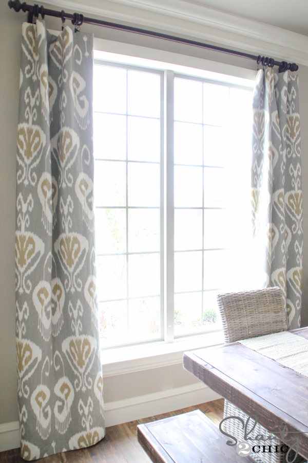 DIY Lined Window Panels - Shanty 2 Chic on Dining Room Curtains  id=69470