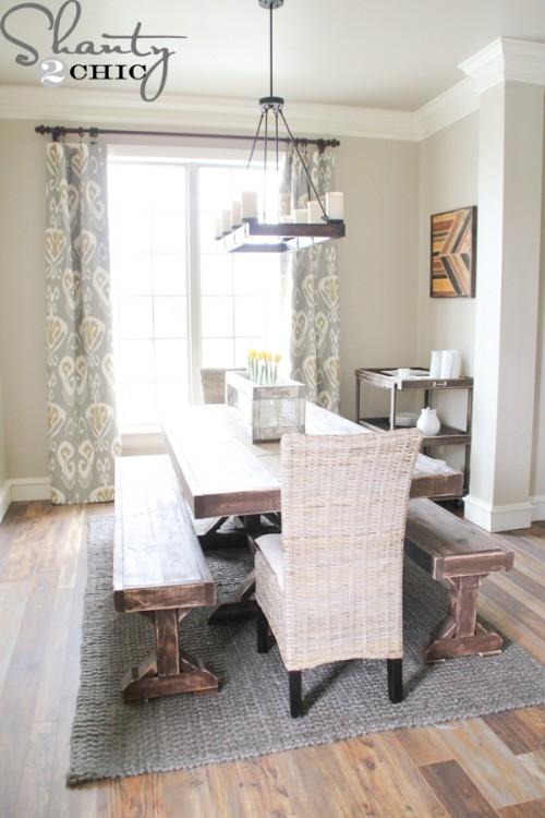 Restoration Hardware Inspired Dining Table For 110 Shanty 2 Chic Diy Benches Onassisstylefo