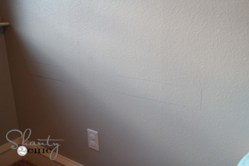 draw frame on wall