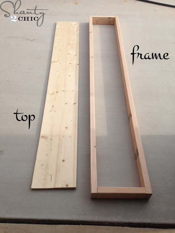 Frame And Top Of Bench