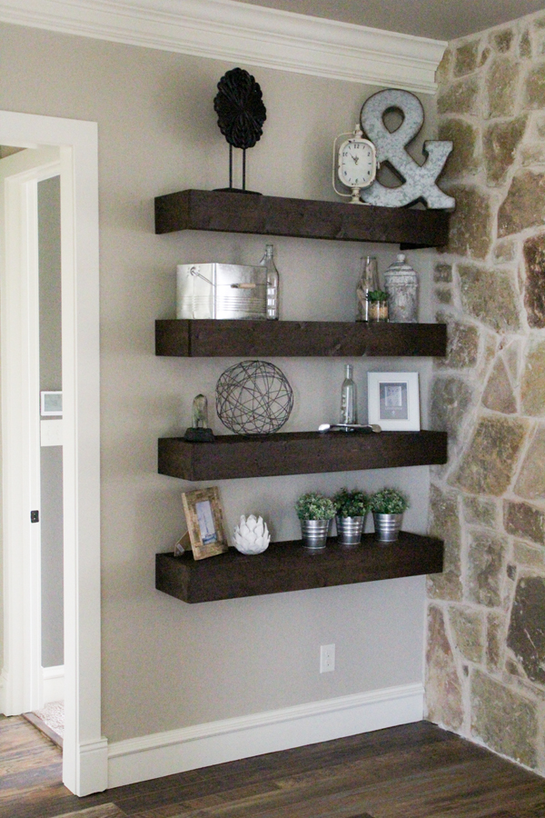 DIY Floating Shelves For My Living Room Shanty 2 Chic