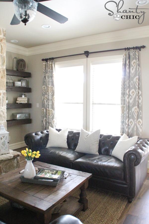 Living Room Curtains : DIY Lined Window Panels - Shanty 2 Chic
