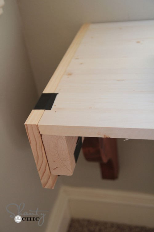 side pieces of desk