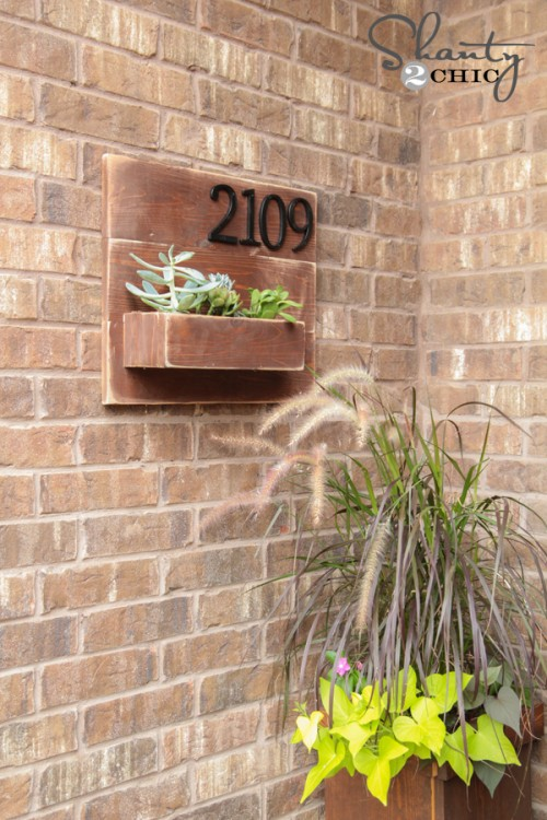 DIY Address Number Planter