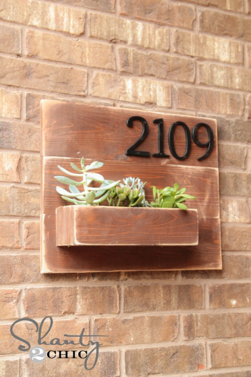 DIY Address Wall Planter