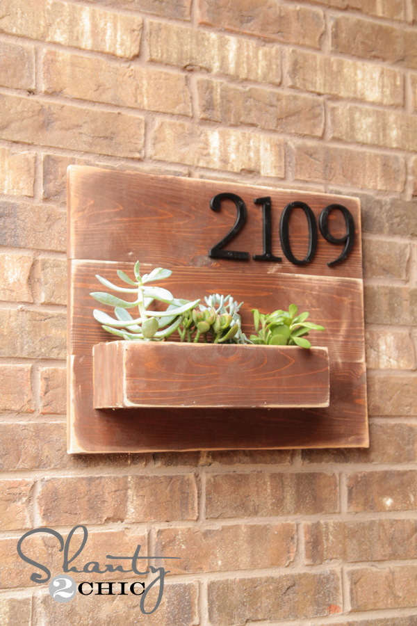 Diy Address Number Wall Planter Shanty 2 Chic
