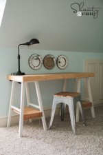 DIY Desk from Barstools